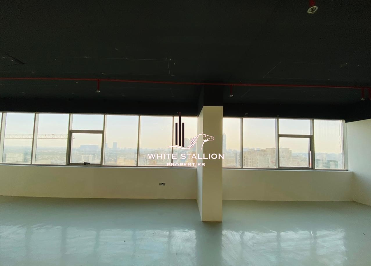 CALL MUFADDAL HUNAID +971 55 840 9211 CHILLER FREE | LARGE SEMI FITTED OFFICE | ATTACHED PANTRY AND TOILET | 40K BY 4 CHQS